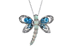 10kt Gold & Diamond Dragon Fly Pendant