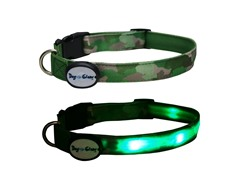 Dog-e-Glow Green Camouflage LED Lighted Collar-Large