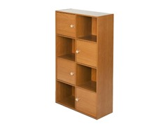 Pasir 4-Tier Shelf 4 Door w/Handles Lt Cherry
