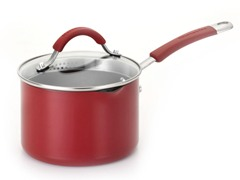 KitchenAid 2 Qt Straining Sauce Pan Red
