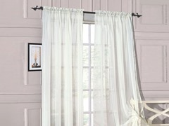 Set of 2: Luxurious Sheer Panels White