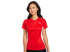 Puma TB Running Short Sleeve Tee - Red