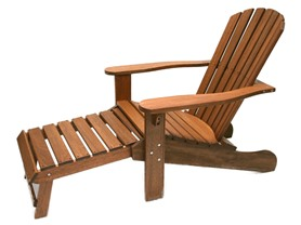 Outdoor Interiors Adirondack Chair w/ Built-in Ottoman