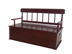 Simply Classic Cherry Bench Seat with Storage