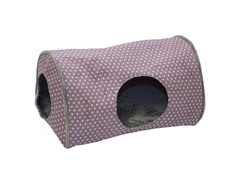 Kitty Camper Indoor Cat Bed - Plum Polka