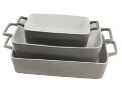 3 Nested Rectangle Bakers -Beige