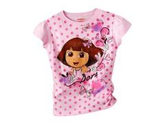Dora Short Sleeve Tee - Pink (4-7)