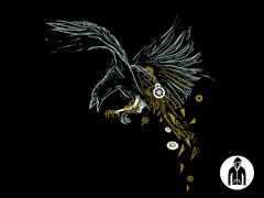 Clockwork Crow Jersey Zip Hoodie