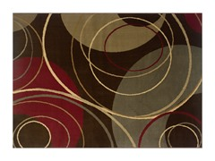 Olivia Area Rug Choc - 5 Sizes