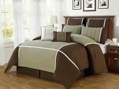 8-Pc Royalton Comforter Set- Brown (Multiple Sizes)