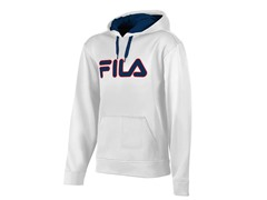Fila Men's Relay Hoody, White/Blue (XL)