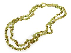 "36"" Endless Peridot Chip Necklace"