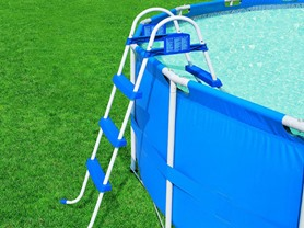 Bestway 58041 Steel Pro Pool Ladder, 42-Inch