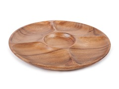 Acacia 5 Part Round Entertainment Platter