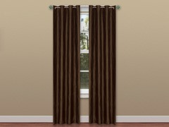 2 Panel Solid Curtain Set w/ Grommets - 4 Colors