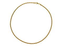 18 kt Gold Plated SS Italian Twisted Spring Omega Chain