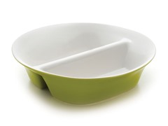 "12"" Divided Dish - Green"