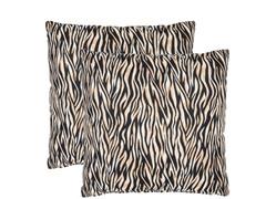 Black Ivy 18x18 Zebra - S/2