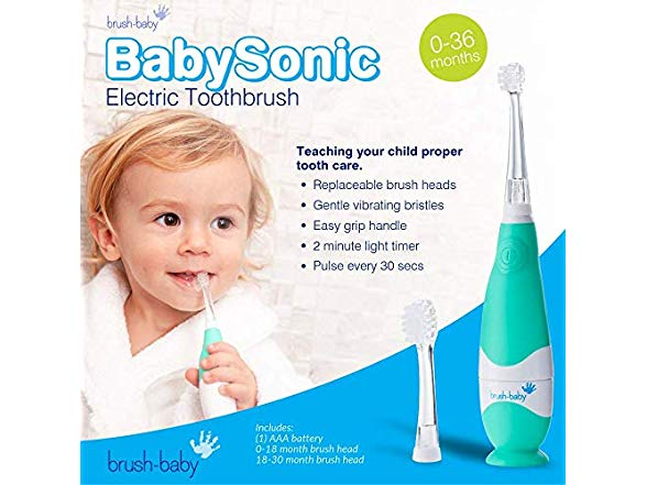 Brush-Baby Baby Sonic Electric Toothbrush and Replacement Head 0-3yrs old