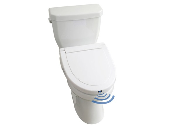 White Touch Free Toilet Seat Elongated