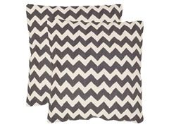 Striped Tealea Pillows-Charcoal-Set of 2