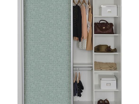 Aqua Poplin Texture Peel Stick Wallpaper