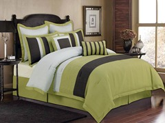 New York Hotel 8Pc Set-Sage-Queen
