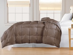 240TC Down Comforter-Brown-Twin