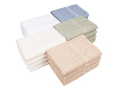 Honeycomb Check Bath Towels S/4-5 Colors