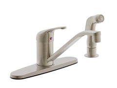Faucet with Side Sprayer, Brushed Nickel