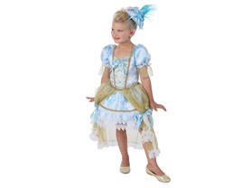 Princess Paradise Girl's Madame Florence Costumes, White/Blue/Gold