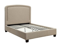 Mont Blanc Linen Platform Bed (2-Sizes)