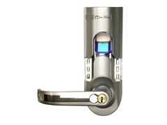 Silver Fingerprint Door Lock Left Handle