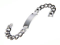 Stainless Steel Cuban Link ID Bracelet