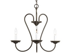 3-Light Chandelier, Antique Bronze