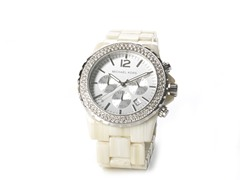 Ladies Cream Chronograph Watch