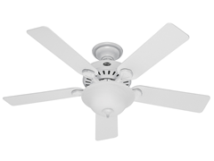 52-Inch Five Minute Ceiling Fan, White