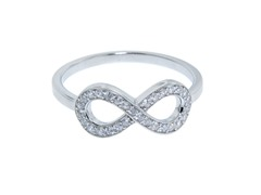 Sterling Silver Pave Infinity Ring