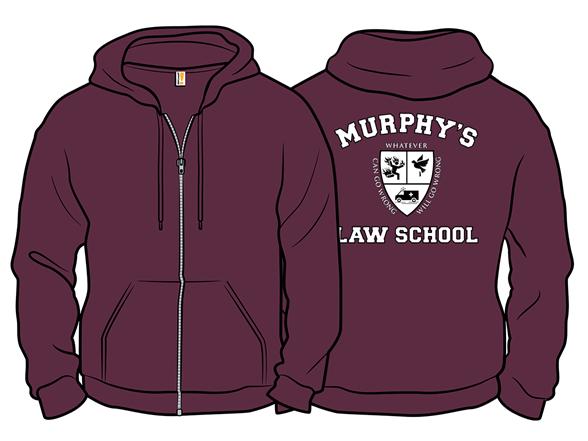 """Image of """"""""""""murphy's Law School"""""""" Zip Hoodie Zip Hoodie"""""""