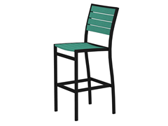 Euro Bar Chair, Black/Aruba