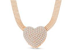 Swarovski Elements Heart Choker Necklace In Gold