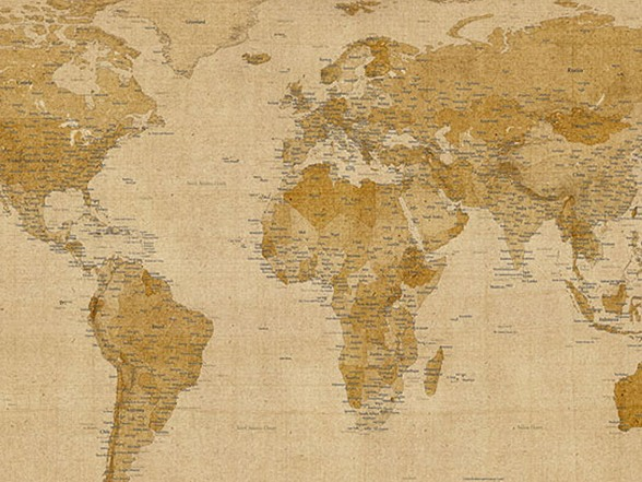 Antique world map canvas publicscrutiny Choice Image