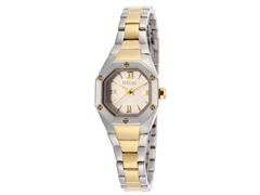 Women's Silver Dial Two Tone Watch