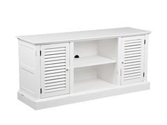 Antebellum Media Stand - Antique White