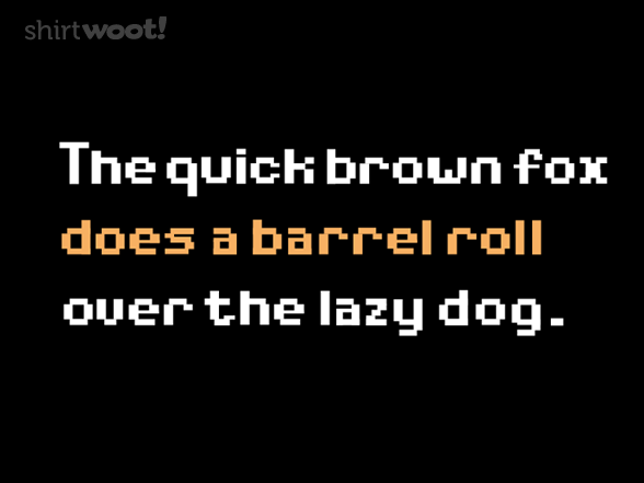 sentence with every letter do a barrel roll 24804