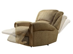 Recliner in Beige Chenille