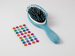 Blue Brush w/Rainbow Flowers Stickers