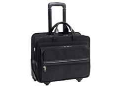 "Franklin Nylon 17"" Wheeled Laptop Case"