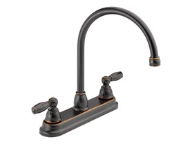 Two Handle Kitchen Faucet, Oil Bronze
