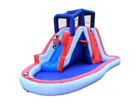 Wonderbounz Liberty Slam Dunk Inflatable Slide w/ LED Game